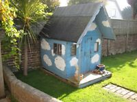 Wooden Wendy House at least 30 years old. Needs to be dismantled by Collector.