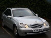 2001 Mercedes-Benz C Class 2.0 C180 petrol Elegance 4door silver Automatic long MOT hpi clear