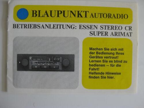 Blaupunkt Essen Stereo CR Super Arimat Schaltplan Oldtimer Doku in ...