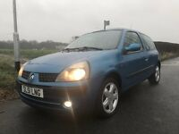 1.1 16v Dynamique Renault Clio. FULL MOT, Serviced, Low mileage, Low insurance, Ideal First Car