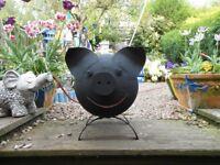Pig log burner / fire pit / garden planter