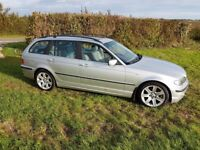 BMW E46 325i 2002 Silver Touring 3 Series