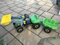 Children's toy pedal tractor