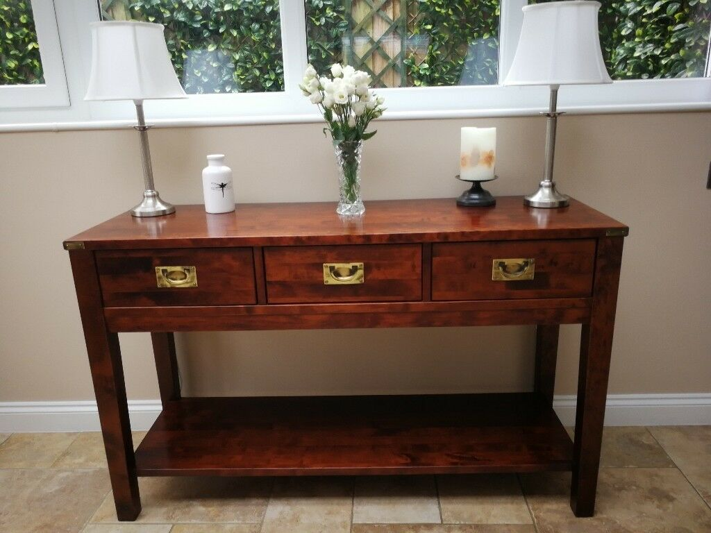 Laura Ashley Solid Wood Console Table Hall Sideboard