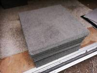 40 x DARK OLIVE GREEN CARPET TILES 50X50CM SQUARE £1 EACH