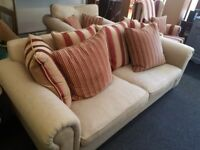 3 seater Sofa with Chair. Handmade Armchair. Fantastic quality in fantastic condition.