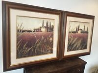 PAIR = Framed = prints signed by J Wiens