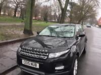 immaculate range rover evoque in santorini black ,one lady owner