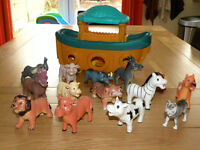 Noah's Ark, toys. Mostly squishy animals.