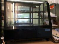 Polar chilled food display 100lt black