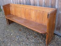 VICTORIAN CHURCH PEW. * MORE AVAILABLE ALSO CHAPEL CHAIRS * Delivery poss. Ideal for pine table.