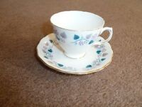 Vintage (1949) Bone China Tea Set by Royal Vale. Very good condition with original box.