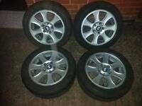 "4x16"" Orginal BMW ALLOY WHEELS with winter tyres"