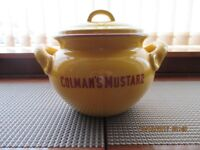 Colmans Mustard large stone container