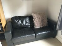 Leather black sofa for sale