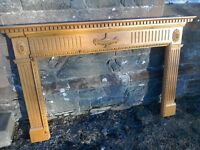 Large georgian Style Solid Pine Fire Surround Fireplace