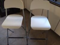 2 x folding Ikea kitchen stools. Excellent condition, £10 each or £15 for both