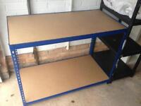 Brand new adjustable height workbench / racking / storage / shelf unit. Perfect for garage or shed