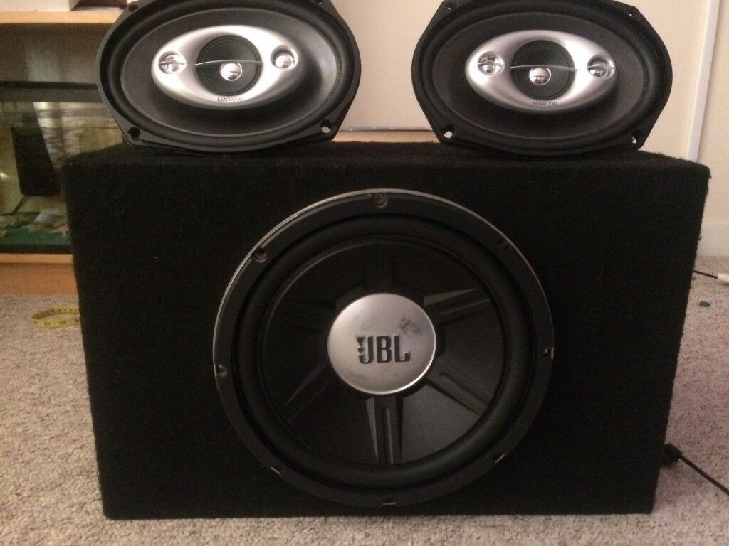 Jbl 12 Inches Gt 01214 1400 Watts Blaupunkt 4 Channels Amplifier Electronics Tv Video Home Audio Speakers Subwoofers Kenwood Shelf