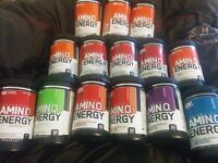 Amino Energy and Amino Drive Optimum Nutrition PHD Protein Supplements