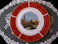 Assiette porcelaine fine de collection Venise Made in England
