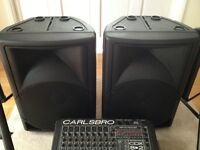 Carlsboro 600 watt Mixer, speakers and two wireless microphones. £250 ono
