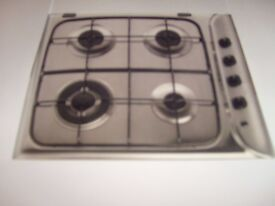 Indesit Built In Gas Hob/COOKER Stainless Steel brand New & sealed