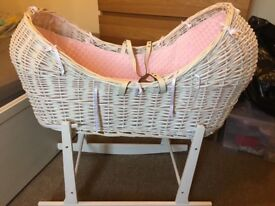 Brand new baby crib with rocking stand