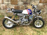 Monkey bike, 50cc Honda replica, every part is upgraded billet frame, will do 50 mph loads of fun,