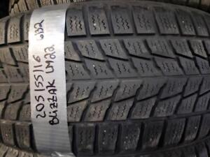 1 winter tire bridgestone blizzak lm-22  205/55r16  SPECIAL !!