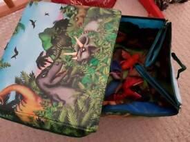 Dinosaur box & toys