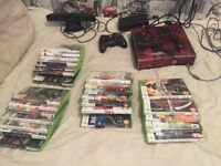 Xbox360 with Kinect and 25 games in good condition ideal Christmas present bargain