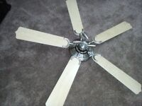2 X CONSERVATORY CEILING FAN LIGHTS