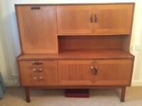 retro 1970's G Plan Sideboard / Drinks Cabinet in solid teak - Reduced to £75 for quick sale