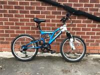 Kids mountain bike full suspension