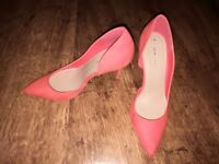 ** brand new bright orange shoes
