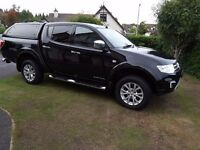 Mitsubishi L200 Barbarian 2015 2.4 Diesel full leather & alloys, sat nav, bluetooth, DAB media