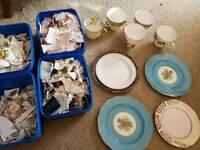 Job lot of broken china for crafting/mosaic/DIY projects