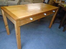 Pine desk, 3 drawers