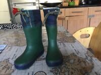 M and S toddler wellies. Insulated. Size 7.