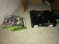 Xbox 360 250gb with 4 games and 1 controller