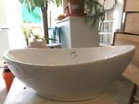 White basin sink