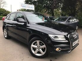 FINANCE £ 302 PR MONTH 2014 AUDI Q5 S LINE TDI QUATTRO 5DR SUV 2.0 DIESEL AUTOMATIC 1 PREV OWNER