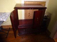 Mahogany style tv cabinet