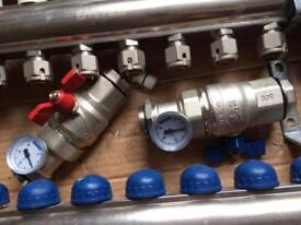 Emetti 11 zone Underfloor heating manifold