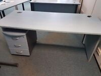 1800 mm office desk with matching underdesk pedistal
