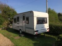 Touring Caravan Sterling Europa 1998 Single Axel 6 berth in good condition