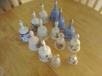 Glass bells bone china bells