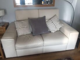 Italian Leather Three Piece Suite. 2 x Two Seater Sofa's + One Chair