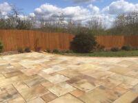 Premium Fossil Mint Indian Sandstone Paving Slabs | Garden | Patio | 19m2 Pack